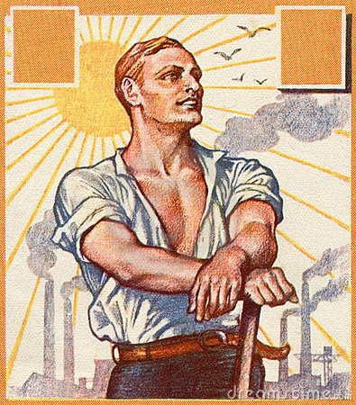 Worker. Old German poster.