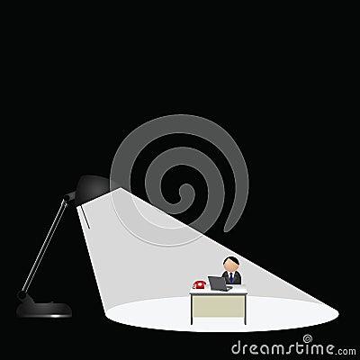 Worker sat at desk