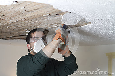 Ceiling Demolition Scrape