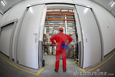 warehousing - worker standing in doorway