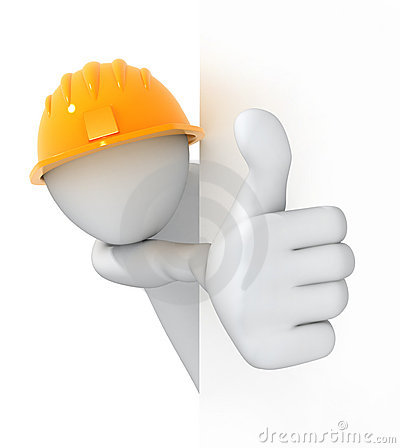 Worker, thumbs up!