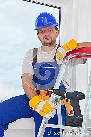 Worker on well deserved break