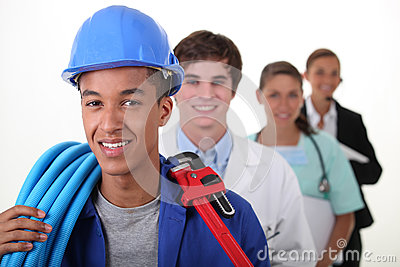 Workers with different professions