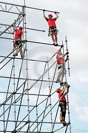 Free Workers In Red Uniform Stock Photos - 98322973