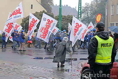 Workers manifestation Editorial Image