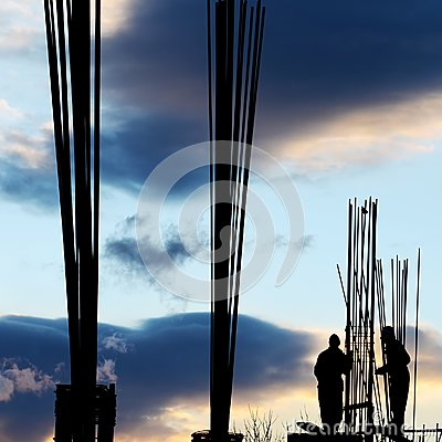 Workers' silhouette