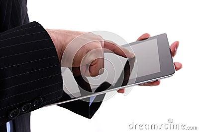 Working on digital tablet