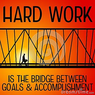 Working Hard Work Being Bridge Goals Accomplisment on Work Diagram States