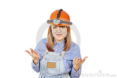 Working in a helmet