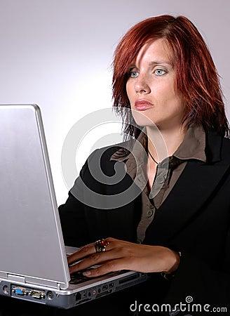 Working on laptop II