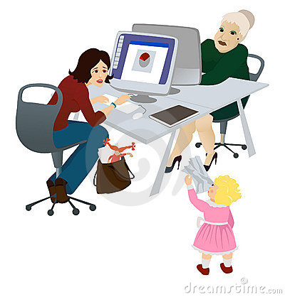 Working mum in the office