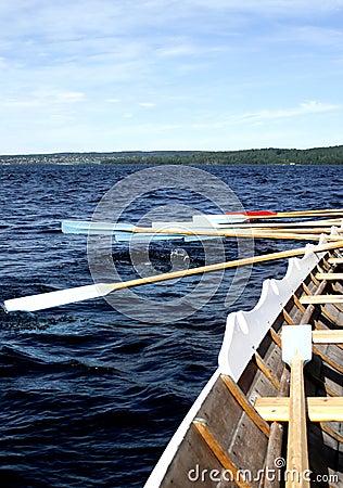 Working oars