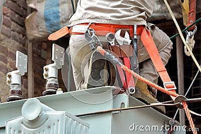 Working outdoor in electricity equipment