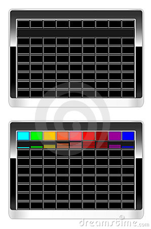 Device dashboard with blank buttons in vector