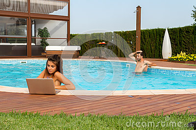 Working in a pool
