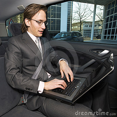 Working in a taxi