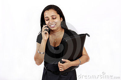 Working woman on the phone