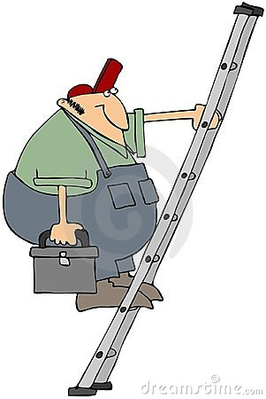 Workman On A Ladder