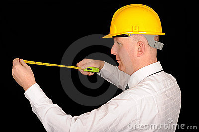 Workman with tape measure