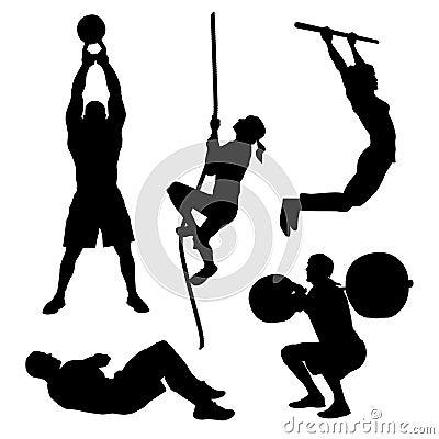 Free Workout Icons Royalty Free Stock Photo - 54267095
