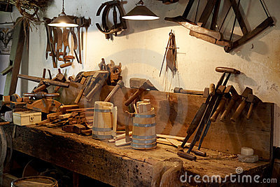 Workplace of the carpenter