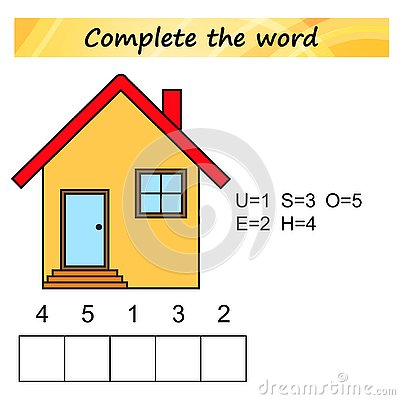 Free Worksheet For Kids. Words Puzzle Educational Game For Children. Place The Letters In Right Order. Royalty Free Stock Photos - 125593898