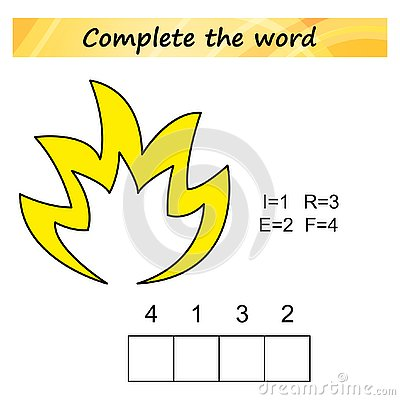 Free Worksheet For Kids. Words Puzzle Educational Game For Children. Place The Letters In Right Order. Royalty Free Stock Images - 125593899