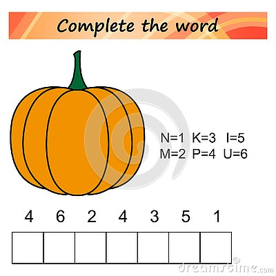 Free Worksheet For Kids. Words Puzzle Educational Game For Children. Place The Letters In Right Order. Royalty Free Stock Photography - 125593967