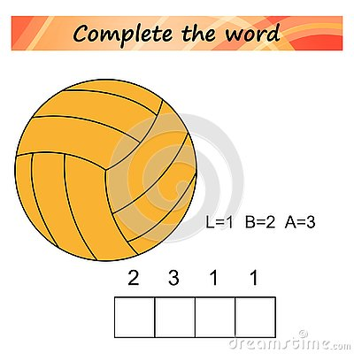 Free Worksheet For Kids. Words Puzzle Educational Game For Children. Place The Letters In Right Order. Stock Images - 125594004
