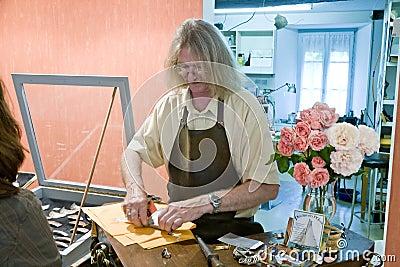 In workshop of Breton goldsmith Editorial Photo