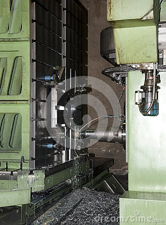 Workshop: large boring machine