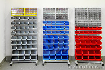 Workshop shelves