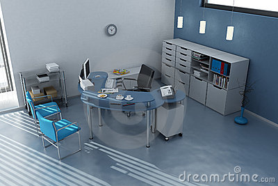 Workstation in modern office