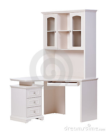 Workstation over white, with clipping path