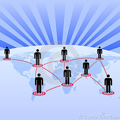 Free World As Global Network Background Stock Photography - 10556792
