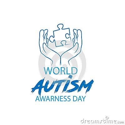 World autism awareness day Vector Illustration