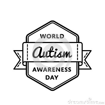 World Autism Awareness day greeting emblem Vector Illustration