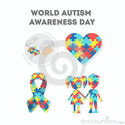 World Autism Awareness Day. Vector Illustration