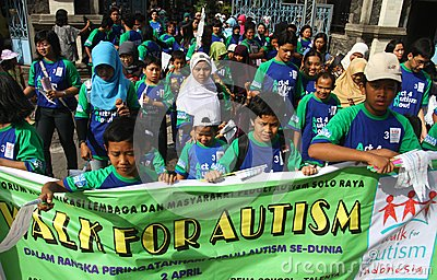 World autism day in indonesia Editorial Photography