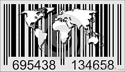 World and barcode