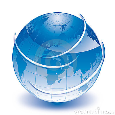 World blue globe