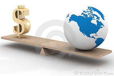 World business. 3D image.
