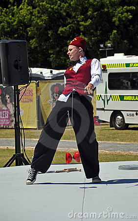World Buskers Festival 2012 - Asher Treleaven Editorial Stock Image