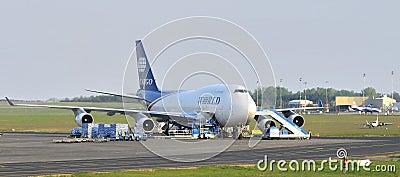 World Cargo Boeing 747 jumbo jet Editorial Photography