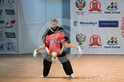 World championship on Acrobatic Rock  n  roll and the World Masters boogie-woogie Editorial Stock Photo