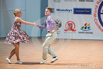 World championship on Acrobatic Rock  n  roll and the World Masters boogie-woogie Editorial Stock Image