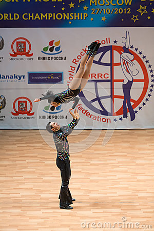 World championship on Acrobatic Rock  n  roll and the World Masters boogie-woogie Editorial Photography