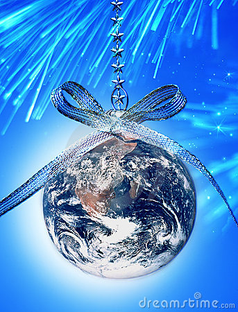Free World Christmas Globe Earth Stock Photography - 19405522