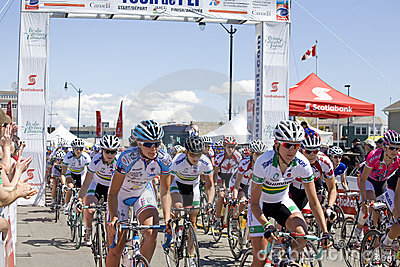 World Class Women s Cycling Race - Tour de PEI Editorial Stock Image