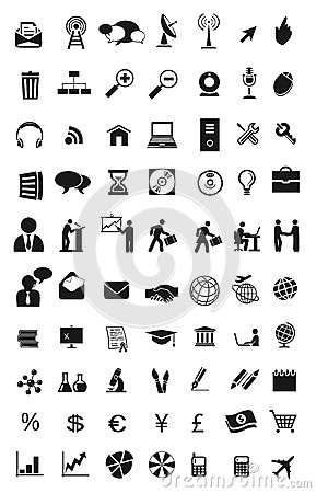 World communications icons